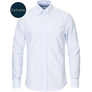 Stenströms Slimline Oxford Shirt Blue/White men 45 - XXL Hvid