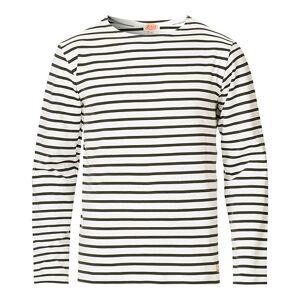 Armor-lux Houat Héritage Stripe Longsleeve T-shirt Milk/Green men S Grøn