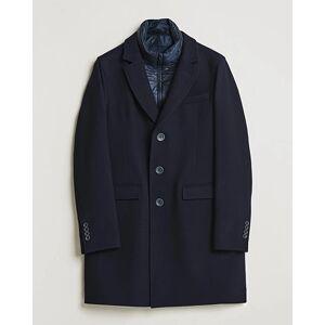 Herno Wool Zip Coat Navy men 48 Blå