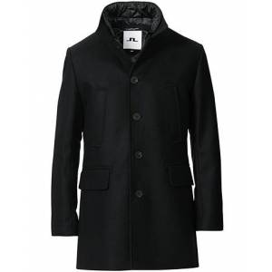J.Lindeberg Kali Wool Stand Up Collar Coat Black men 50 Sort