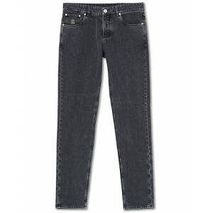 Brunello Cucinelli Traditional Fit 5-Pocket Jeans Medium Grey men 52 Grå