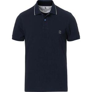 Brunello Cucinelli Short Sleeve Polo Navy men XL Blå