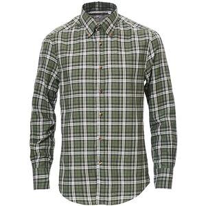 Brunello Cucinelli Slim Fit Button Down Flannel Shirt Green Check men XL Grøn