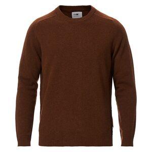 NN07 Edward Wool Crew Neck Pullover Canela Brown men XL Brun