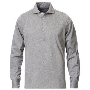 Stenströms Cotton Popover Poloshirt Grey Melange men XL Grå