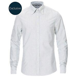 Stenströms Slimline Oxford Shirt Green/White men 36 - XS Grøn