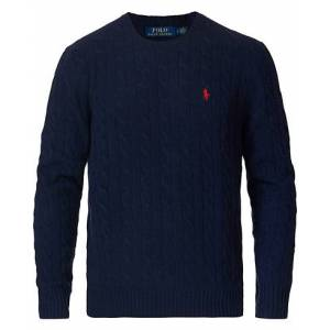 Polo Ralph Lauren Wool/Cashmere Cable Sweater Hunter Navy men XS