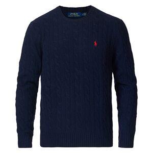 Polo Ralph Lauren Wool/Cashmere Cable Sweater Hunter Navy men XXL Blå