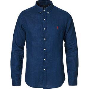 Polo Ralph Lauren Slim Fit Linen Button Down Shirt Newport Navy men XS Blå