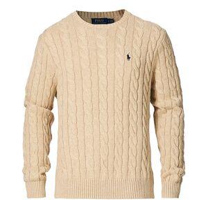 Polo Ralph Lauren Cotton Cable Pullover Oatmeal Heather men XXL Beige