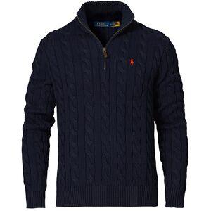 Polo Ralph Lauren Cotton Cable Half-Zip Sweater Hunter Navy men L Blå