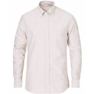 Stenströms Slimline Striped Oxford Shirt Beige men XL Beige
