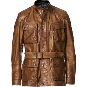 Belstaff Trialmaster Panther 2.0 Leather Jacket Burnished Gold men 54 Brun