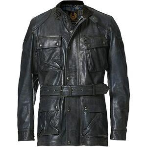 Belstaff Trialmaster Panther 2.0 Leather Jacket Blue Brown men 48 Brun