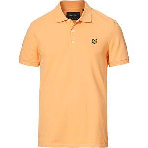Scott Lyle & Scott Plain Pique Polo Shirt Melon men M Orange