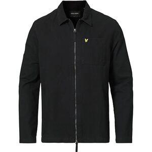 Scott Lyle & Scott Twill Zip Overshirt Jet Black men XL Sort