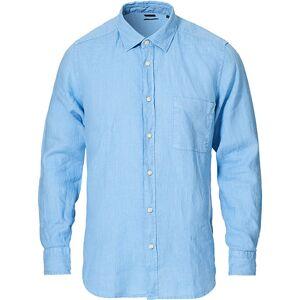Boss Casual Relegant Linen Shirt Open Blue men M Blå