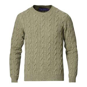 Ralph Lauren Purple Label Cashmere Cable Crewneck Sage men L