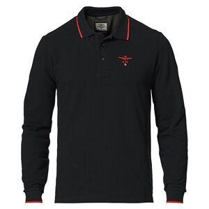 Aeronautica Long Sleeve Polo Jet Black men M
