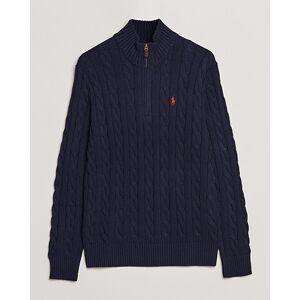 Polo Ralph Lauren Cotton Cable Half Zip Sweater Hunter Navy men XS