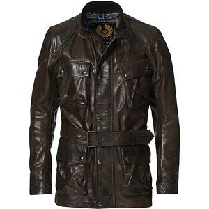 Belstaff Trailmaster Panther 2.0 Leather Jacket Black/Brown men 50