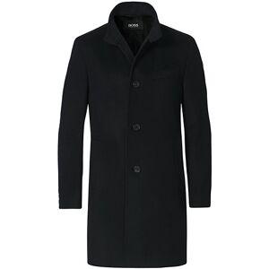Boss Hyde Wool/Cashmere Stand Up Collar Coat Black men 46