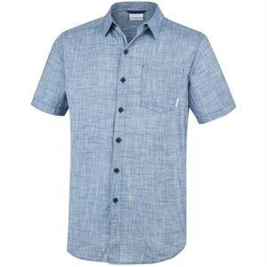Columbia Sportswear Columbia Under Exposure YD Short Sleeve Shirt Mens, Petrol
