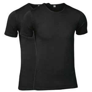 JBS 2 pakkaus Modern T-shirt O-neck - Black  - Size: 1030-02 - Color: musta