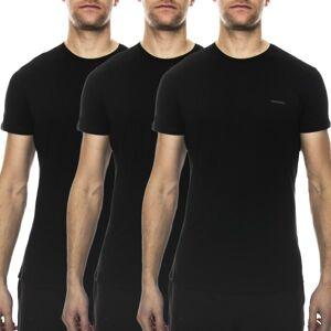 Diesel 3 pakkaus Jake Crew Neck T-shirt - Black  - Size: 00SPDG-0AALW - Color: musta