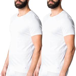 Marc O'Polo Marc O Polo T-shirts 2 pakkaus - White  - Size: 149803 - Color: valkoinen
