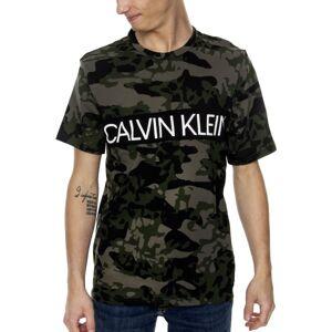 Calvin Klein SS Crew Neck T-shirt - Khaki * Kampanja *  - Size: 000NM1861E - Color: Khaki