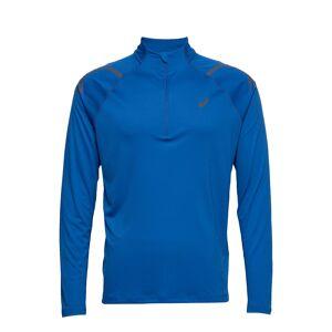 Asics Icon Ls 1/2 Zip Top T-shirts Long-sleeved Sininen Asics