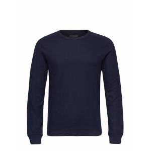 Banana Republic Core Temp Waffle-Knit T-Shirt T-shirts Long-sleeved Sininen Banana Republic