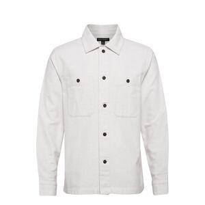 Banana Republic Slim-Fit Flannel Shirt Jacket Ohut Takki Valkoinen Banana Republic