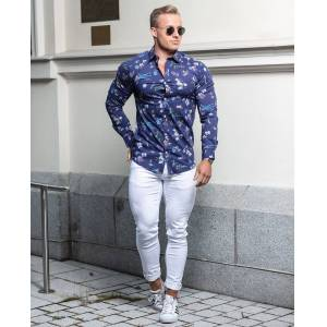 Stefano Floral Shirt Navy Only & Sons