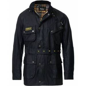Barbour Slim Wax Jacket Black