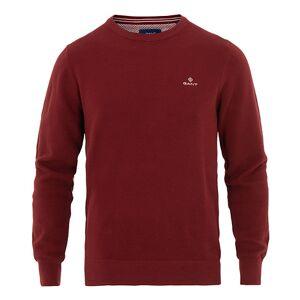 Gant Cotton Pique Crew Neck Crimson Red