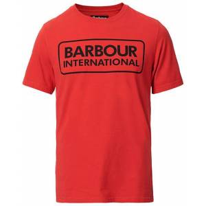 Barbour Large Logo Crew Neck Tee Lava Red
