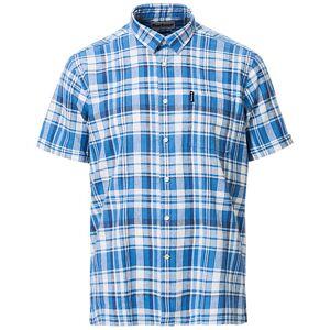 Barbour Cotton/Linen Short Sleeve Check Shirt Blue