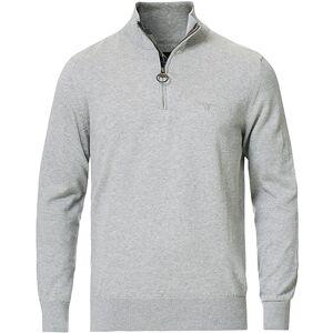 Barbour Tain Cotton Half Zip Grey Melange