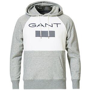 Gant Striped Sweatshirt Hoodie Grey Melange