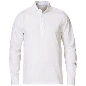Cotton Popover Poloshirt White