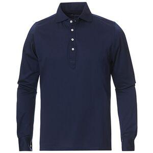 Cotton Popover Poloshirt Navy