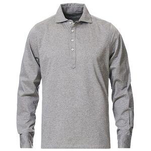 Cotton Popover Poloshirt Grey Melange