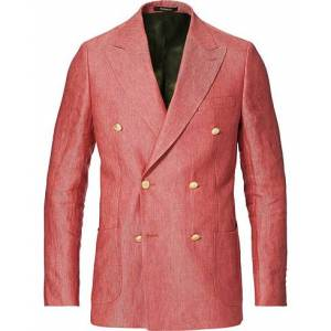 Morris Heritage Colour Club Double Breasted Blazer Pink