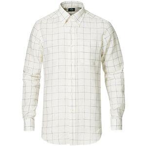 Kamakura Shirts Slim Fit Linen Button Down Shirt Black Check