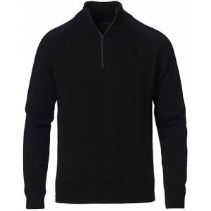 Belstaff Alfie Knitted Wool Half Zip Black