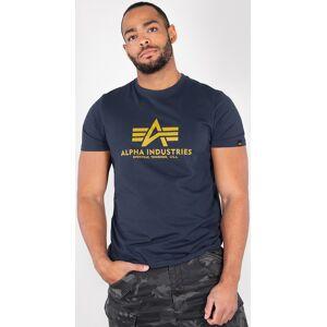 Alpha Industries Basic T-paitaSininen Keltainen
