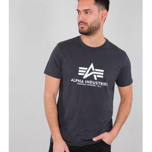 ALPHA INDUSTRIES ALPHA T-PAITA IRON GREY - Basic T-Shirt - ALPHA INDUSTRIES