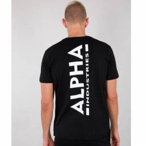 ALPHA INDUSTRIES ALPHA T-PAITA musta - Backprint T - ALPHA INDUSTRIES